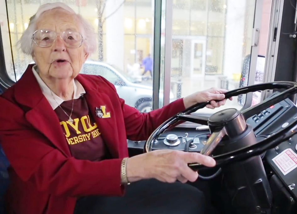 "Loyola U's Sister Jean ""On a Mission from God"""