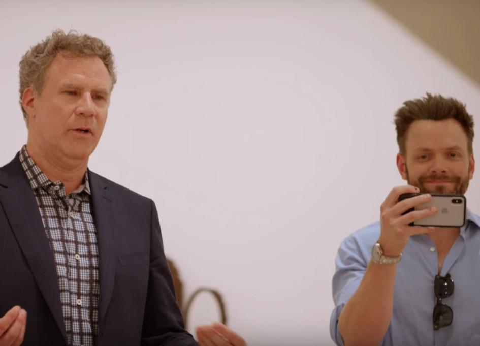 Ferrell and McHale get real in Hammer Museum short