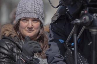 "Jennifer Karum on the set of ""The Nest"""