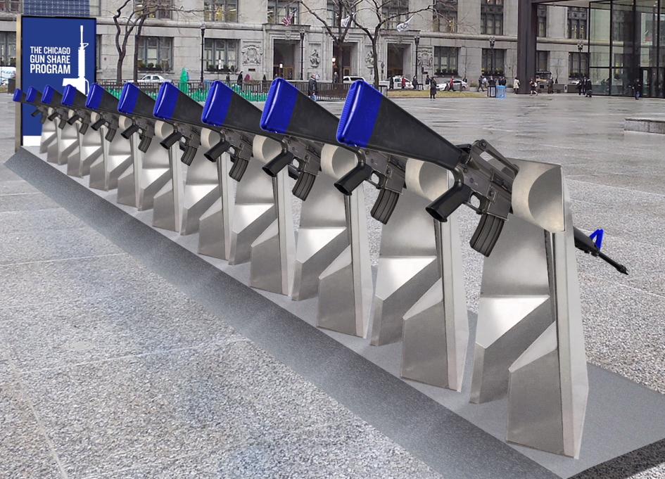 Escape Pod's Daley Plaza work addresses gun violence