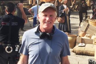 "Bob Hercules filming ""The Gate"" on location in Almeria, Spain"