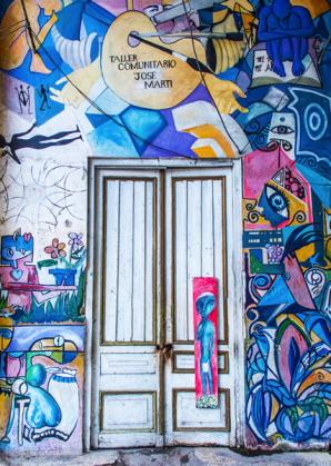"""Group Painting: Havana, Cuba"" (photo Daphne Maxwell Reid)"