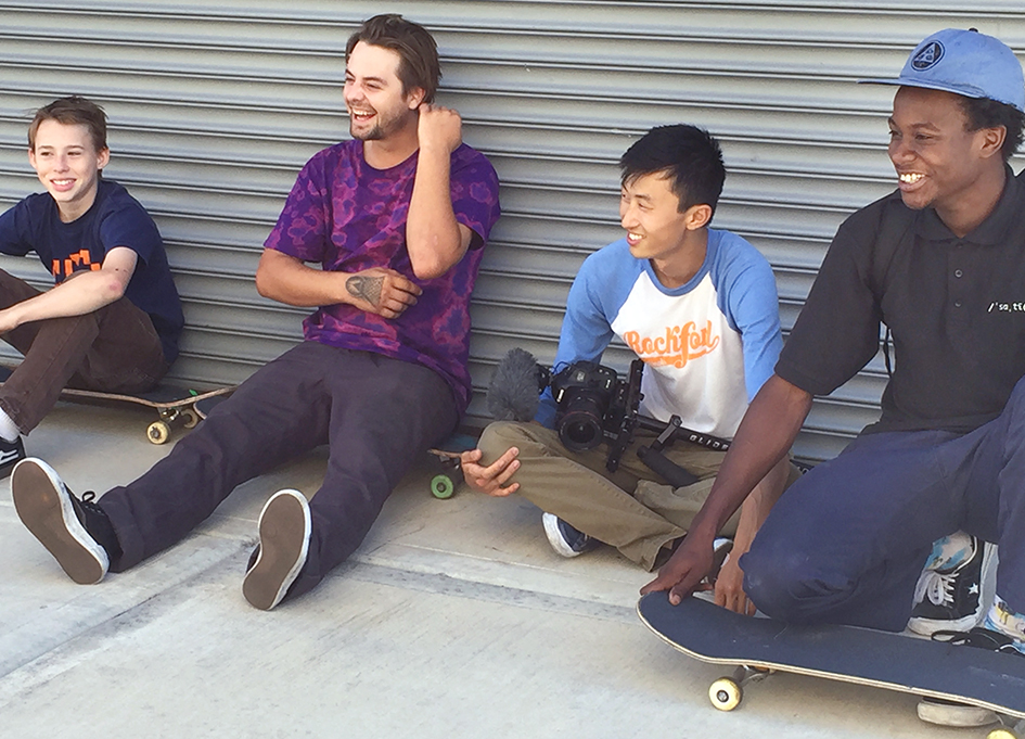 """Bing Liu, second from right, in """"Minding the Gap"""""""