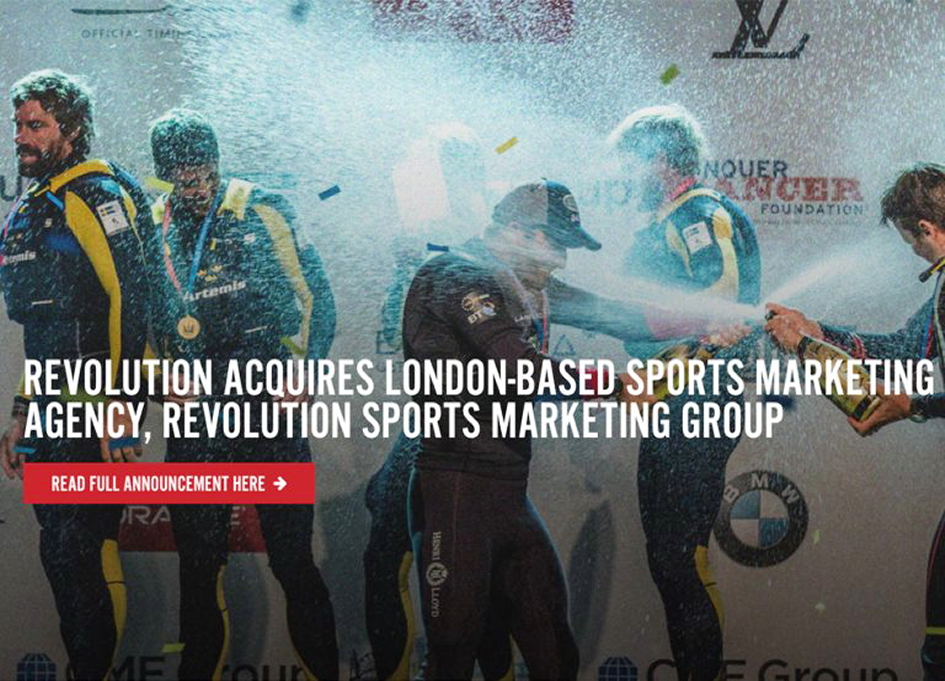 rEvolution acquires London sports marketing group