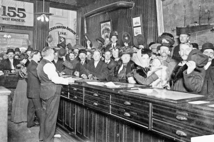 A bar in old Chicago