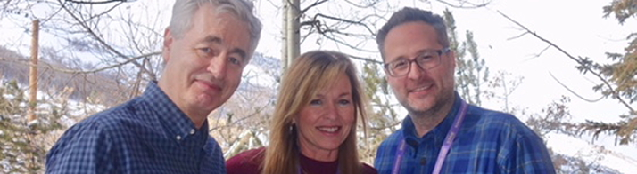 Steve James, Pamela Powell, and Zak Piper at Sundance