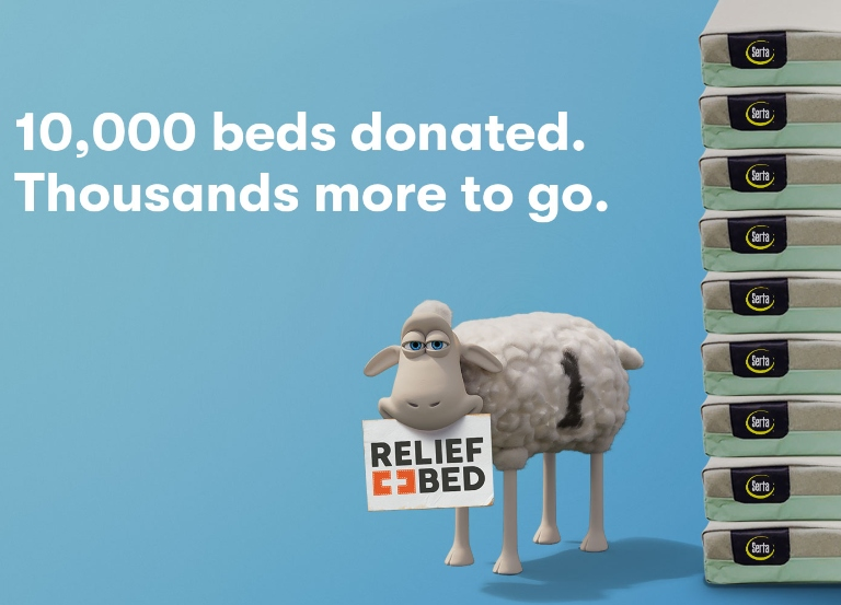 "Serta, Leo Burnett and ICF want you to ""stay home, send beds"""