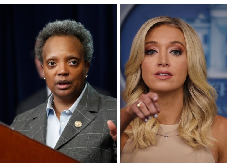 "Lightfoot claps back at McEnany, calls her ""Karen"""