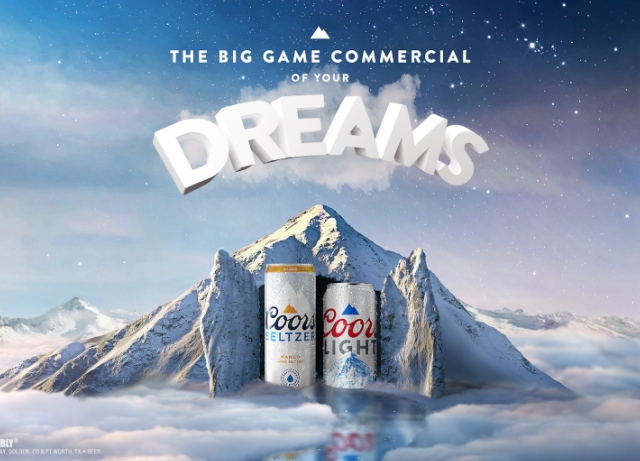 Coors Light, Seltzer Big Game ad runs in dreams