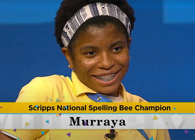 It's a win for Scripps Spelling Bee Champ and Bill Murray