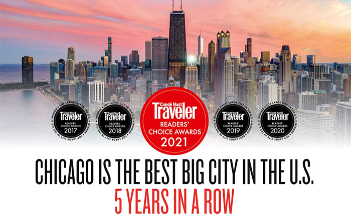 Chicago chosen #1 Best Big City in the U.S. for fifth consecutive year!