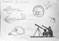 'Astro-Nut' Cap Design Sketches