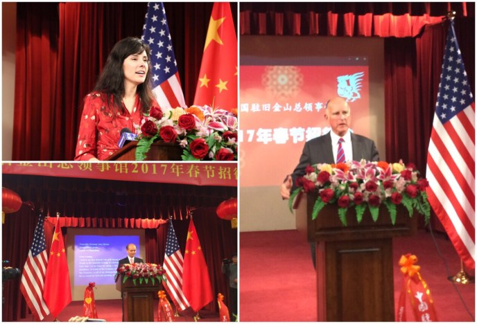 Celebrating Chinese New Year at the Consulate General with Governor Brown