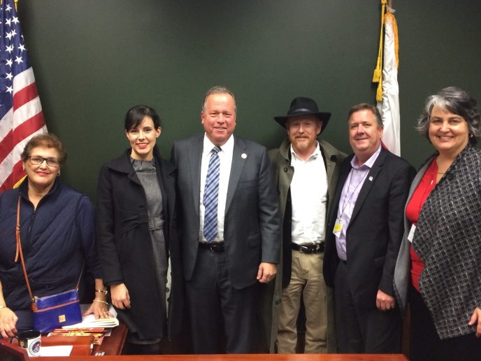 Visiting Senator Bill Dodd in Sacramento