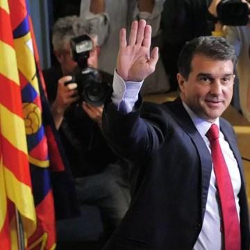 FOOT: Laporta, le nouveau président à la tête du FC Barcelone