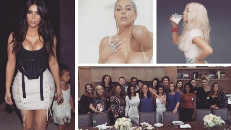Realitystjernen Kim Kardashian har millioner af følgere på de sociale medier. Billede: Instagram/Kim Kardashian.