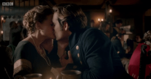 caroline and dwight kiss poldark