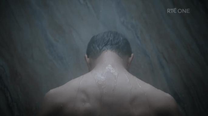 the fall jamie dornan shower