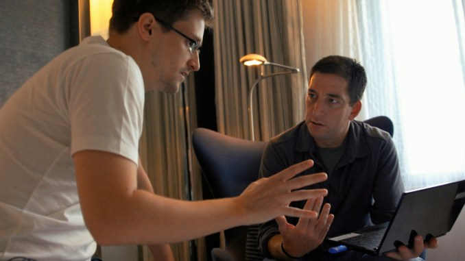 Edward Snowden and Glenn Greenwald in Hong Kong.
