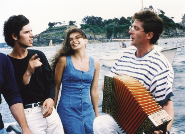 Melvil Poupaud (Gaspard), Gwenaëlle Simon (Solène) and Yves Guérin (Accordionist), A SUMMER'S TALE, Courtesy of Big World Pictures
