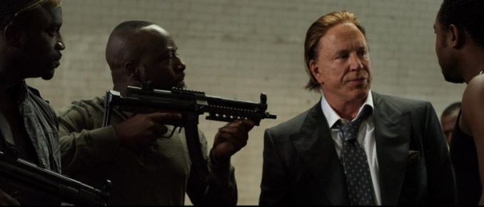 """(L-R) Akon as Opuwei, Wyclef Jean as Timi Gabriel and Mickey Rourke as Tom Hudson in the dramatic action film """"Black November"""", an Entertainment One Films release. Photo courtesy of Entertainment One Films."""