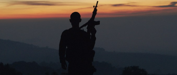 Cartel Land-#1 - Autodefensa member standing guard in Michoacán, Mexico, from CARTEL LAND, a film by Matthew Heineman