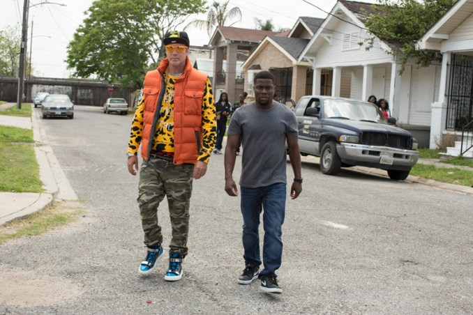 """(L-r) WILL FERRELL as James and KEVIN HART as Darnell in Warner Bros. Pictures' comedy """"GET HARD,"""" a Warner Bros. Pictures release.  Photo by Patti Perret"""