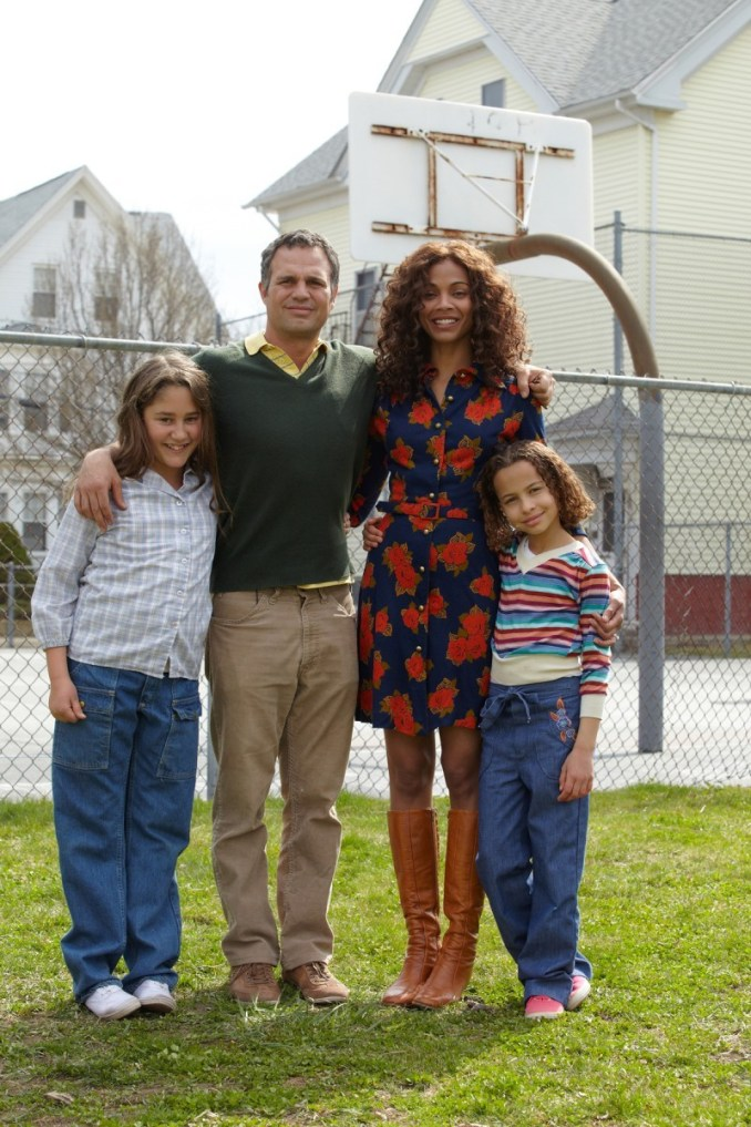 Left to right: Zoe Saldana as Maggie Stuart and Mark Ruffalo as Cam Stuart Photo by Claire Folger, Courtesy of Sony Pictures Classics