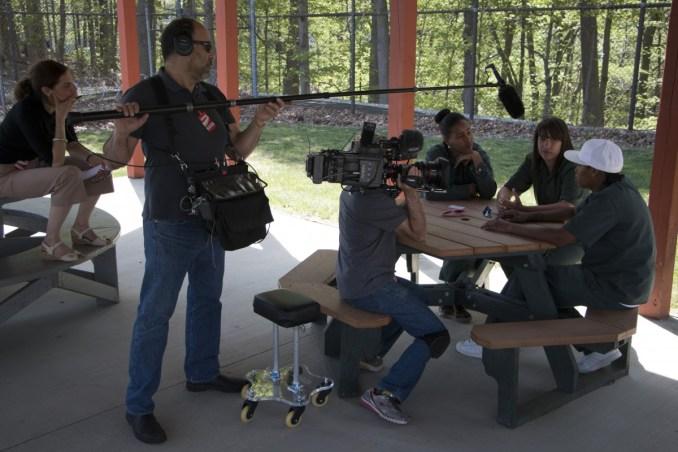 Documentary Film crew filming BPI students