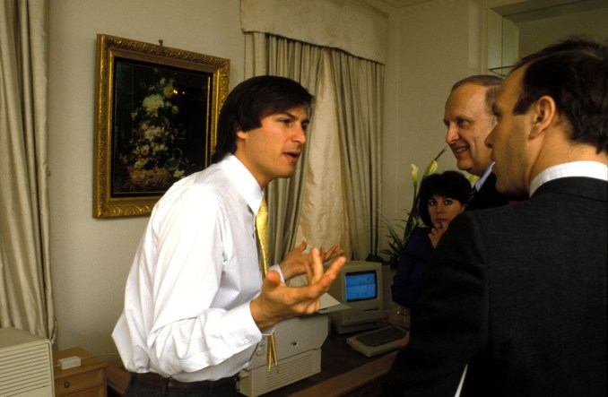 Sept. 2, 1985 - New York, New York, U.S. - FILE 1985. CEO of Apple STEVE JOBS speaks passionately during a meeting. (Credit Image: © ZUMA Press
