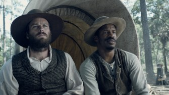 """Armie Hammer as """"Samuel Turner"""" Nate Parker as """"Nat Turner"""" in THE BIRTH OF A NATION. Photo courtesy of Fox Searchlight Pictures. © 2016 Twentieth Century Fox Film Corporation All Rights Reserved"""
