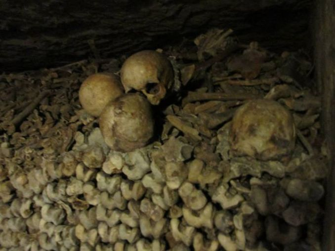 Catacombs of Paris. Photo by Liz Whittemore