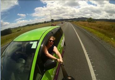 we took a lot of car selfies