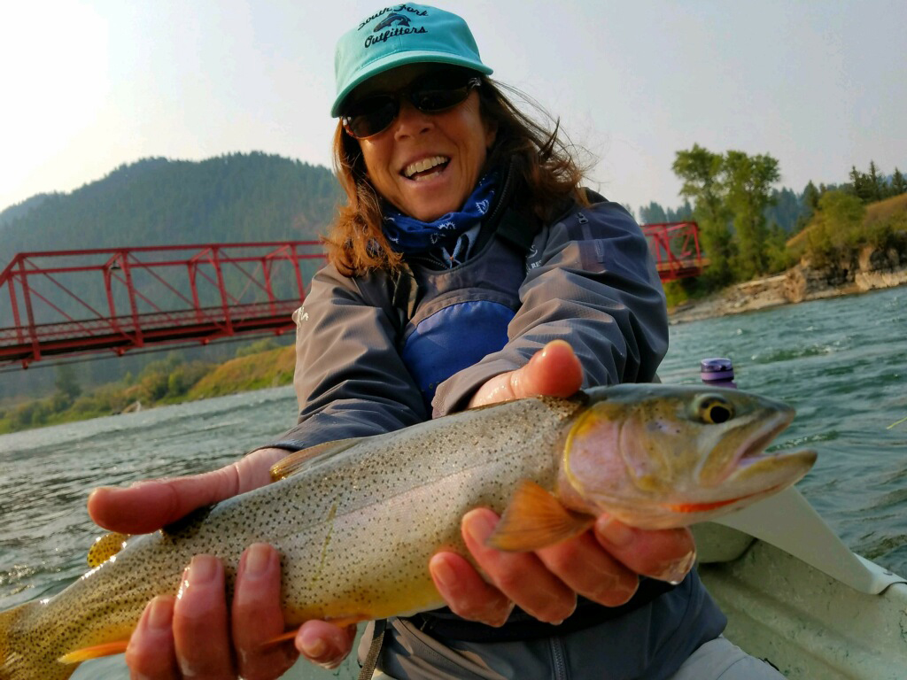 Fine Spotted Cutthroat Trout, Snake River, Wyoming, Reel Women Fly Fishing Adventures