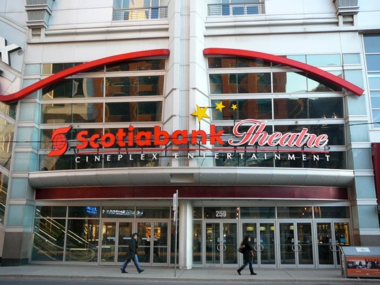 Exterior photo of the Cineplex Scotiabank multiplex in Toronto