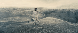 Screenshot from the scifi drama film Intersellar, starring Matthew McConaughey, Anne Hathaway and Jessica Chastain