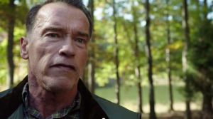 Screenshot from the 2014 action thriller film Sabotage, starring Arnold Schwarzenegger, Sam Worthington, Terrence Howard and Mireille Enos. Directed by David Ayer.