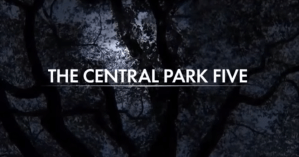 Still from the trailer for the 2012 sociopolitical New York documentary, The Central Park Five, concerning the unlawful prosecution and imprisonment of 5 young men of color who were accused of raping a jogger in central park. Co-directed by Ken Burns and Sarah Burns.