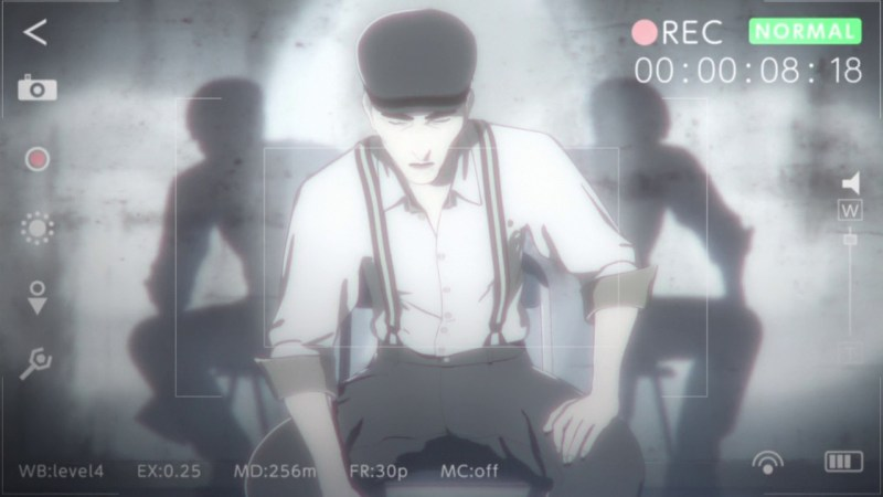 A screenshot of Mr. Sato, a villain in the 2016-17 Netflix anime series, Ajin: Demi-Human