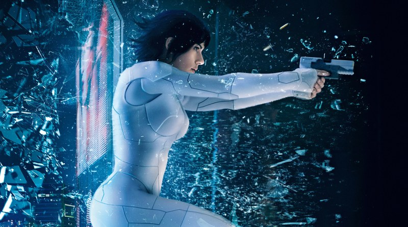 "An action still depicting Scarlett Johansson as ""The Major,"" in a scene from the 2017 action/sci-fi film, Ghost In The Shell."