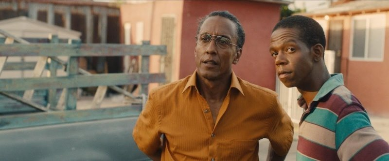 Ashley (Andre Royo) and Jeremy (George Sample III) in a scene from Joshua Lucy's 2016 tragicomedy, Hunter Gatherer.
