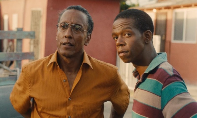 Pictured: Andre Royo (Ashley) and George Sample III (Jeremy) in a scene from the 2016 film, Hunter Gatherer.