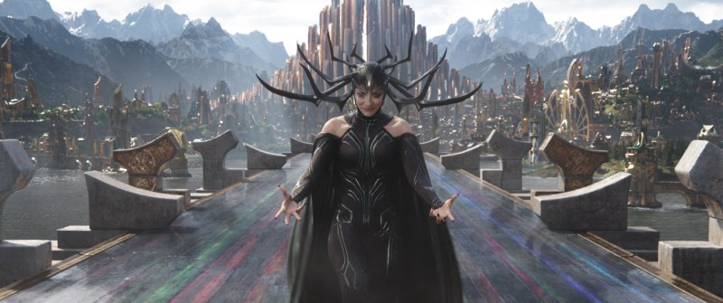 Pictured: Cate Blanchett as Hela in the 2017 Marvel Disney film by Taika Waititi, Thor: Ragnarok.
