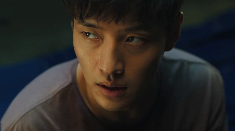 "A closeup of Jin-seok, the main character of the Korean film ""Forgotten."""