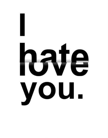 Hate to love