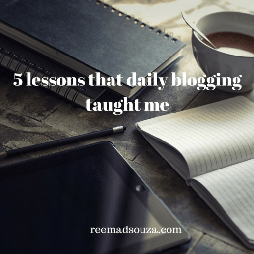 lessons daily blogging