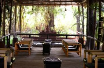 the lounge area at the resort