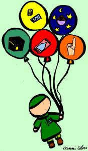 Les 5 Pilier De L Islam : pilier, islam, Coloriage:, Piliers, L'Islam, Reemdn