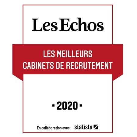 Reemind primé parmi les meilleurs cabinets de recrutement dans l'étude Les Echos-Statista 2020