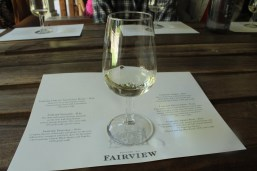 Delicious wine and cheese at Fairview